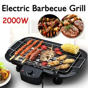 Smokeless electric barbecue grill