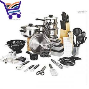 80 pieces cookware and kitchen set